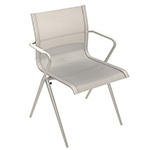 Gloster Ryder Stacking Dining Armchair (White/ seagull)