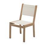 Gloster Solana Dining Side Chair, Canvas Sling