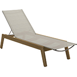 Gloster Solana Sling Lounger With Wheels
