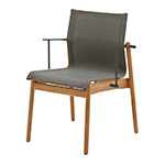 Gloster Sway Stacking Dining Armchair, Granite� width=