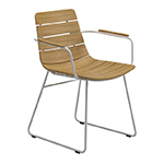 Gloster William Dining Armchair, White