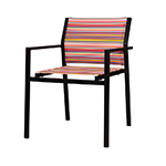 Mamagreen Stripe Modern Stacking Dining Armchair