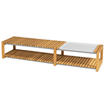 Mamagreen Long Coffee Table with Tray