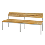 Mamagreen Oko Collection Bench with Backrest and Post Legs