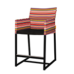 Mamagreen Stripe Counter Armchair Red Barcode