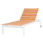 Mamagreen Stripe Lounger One Side Reclining
