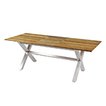 Mamagreen X-Leg Dining Tables Stainless Steel