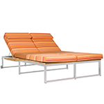 Mamagreen Oko Lounge Double Sun Lounger with Tray, Sunset Palette