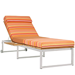 Mamagreen Oko Lounge Sun Lounger with Tray, Sunset Palette