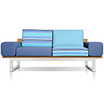 Mamagreen Oko Lounge 2-Seater with Bolsters, Marine Palette