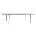 Sifas Ec-Inoks Dining Tables, White Glass Top