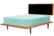 Brooklyn Bed, Cherry with Black, Multiple Options Available