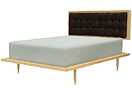 Brooklyn Bed, Maple with Black, Multiple Options Available