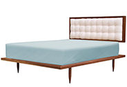 Brooklyn Bed, Walnut with White, Multiple Options Available