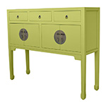 Hong Kong Tall Sideboard, Shown in Clean Parakeet, Custom Options Available� width=
