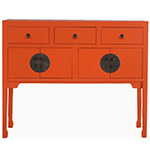 Red Egg Hong Kong Flatscreen Sideboard, Custom Options Available