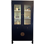 Red Egg Hong Kong Bookcase with Glass Doors, Custom Options Available