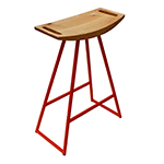 Logan Stool, Orange with Maple