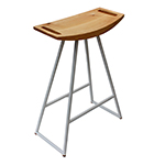 Logan Stool, White with Maple