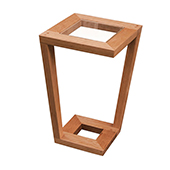 Mason Side Table, Cherry with Glass, Multiple Options Available