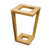 Mason Side Table, Maple with Glass, Multiple Options Available