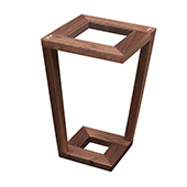 Mason Side Table, Walnut with Glass, Multiple Options Available