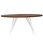 Sidney Oval Coffee Table, Walnut with White, Multiple Options Available