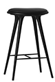Mater Stools by Space Copenhagen, Beechwood with Black Leather