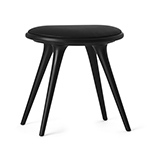 Mater Low Stools by Space Copenhagen, Beechwood with Black Leather� width=