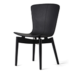 Mater Shell Lounge Chair, Black Beech and Black Leather