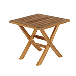 Barlow Tyrie Ascot Folding Side Table, Footstool