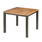 Barlow Tyrie Aura Square Dining Tables, Graphite