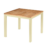 Barlow Tyrie Aura Square Dining Tables, Champagne� width=