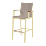 Barlow Tyrie Aura High Dining and Counter Height Carver Chair, Champagne and Titanium� width=