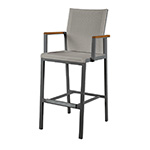 Barlow Tyrie Aura High Dining Carver Chair, Graphite and Titanium� width=