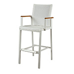 Barlow Tyrie Aura High Dining and Counter Height Carver Chair, White and Pearl� width=