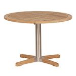 Barlow Tyrie Equinox Modern Pedestal Dining Table