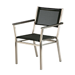 Barlow Tyrie Equinox Dining Armchair, Charcoal