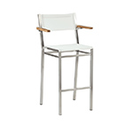 Barlow Tyrie Equinox High Dining and Counter Height Carver Chairs