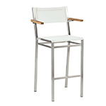 Barlow Tyrie Equinox High Dining and Counter Height Carver Chairs, White