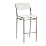 Barlow Tyrie Equinox High Dining and Counter Height Side Chairs, White