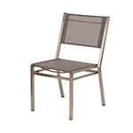 Barlow Tyrie Equinox Dining Side Chair, Platinum