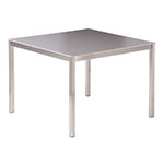 Barlow Tyrie Equinox Square Dining Tables, Ceramic Top