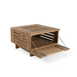 Skargaarden Skanor Square Lounge Table with Storage