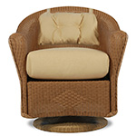 Lloyd Flanders Reflections Swivel Dining Chair with Back Pad