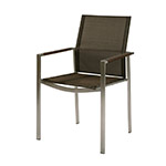Barlow Tyrie Mercury Dining Armchair, Charcoal