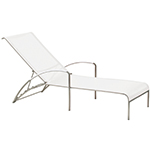 Royal Botania QT Lounger with Wheels, White