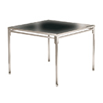 Barlow Tyrie Quattro Square Dining Tables, Slate Gray HPL Top