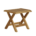 Barlow Tyrie Folding Recliner Side Table, Footstool