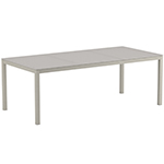 Royal Botania Taboela Dining Tables, White Glass Top